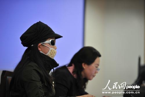 晓瑜在法庭上 曹璐摄影
