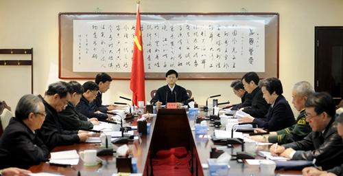 10月28日,中共中央政治局委员、中央政法委书记孟建柱在北京主持召开中央政法委员会第十三次全体会议并讲话。(摄影 郝帆)