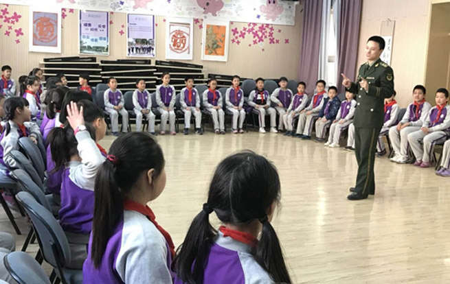朝阳消防支队开展消防培训进校园宣讲活动