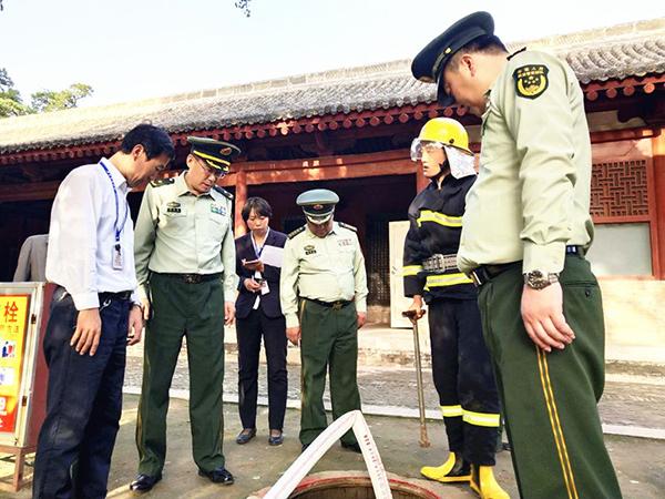 国家三部门督导山西博物馆和文物建筑消防